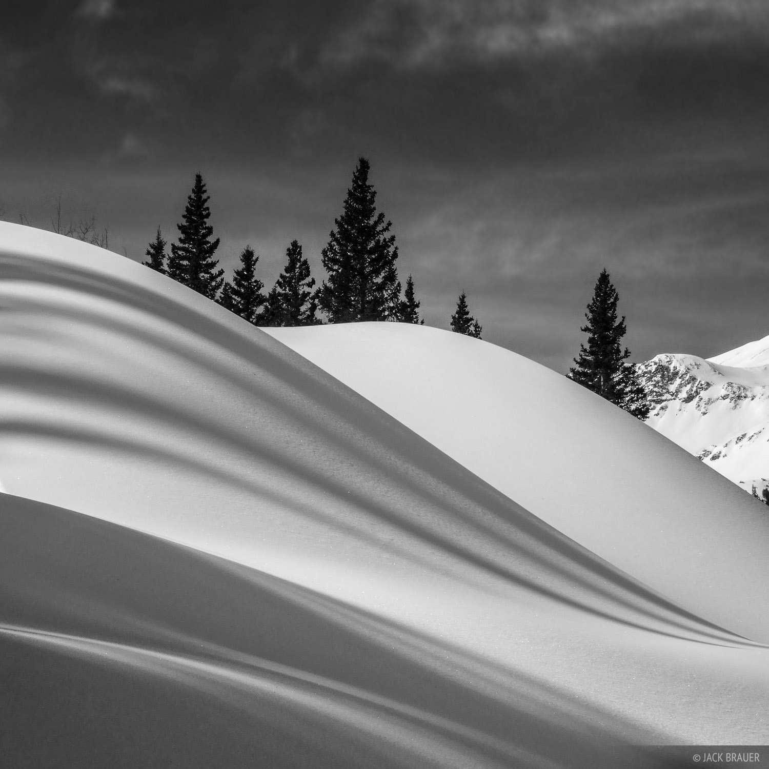 Snow shadows, Red Mountain Pass, Colorado, photo