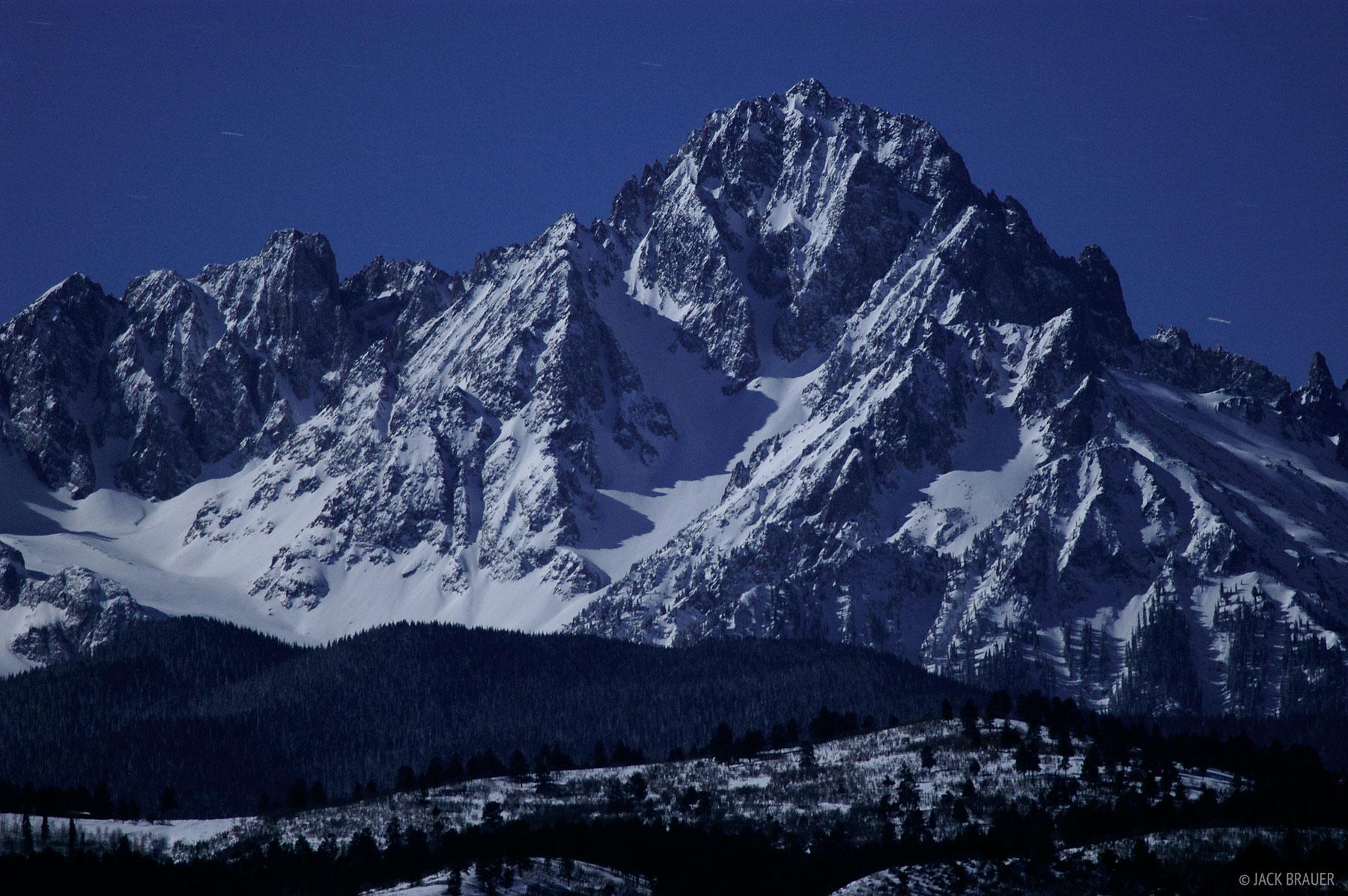 Mt. Sneffels, moonlight, San Juan Mountains, Colorado, photo