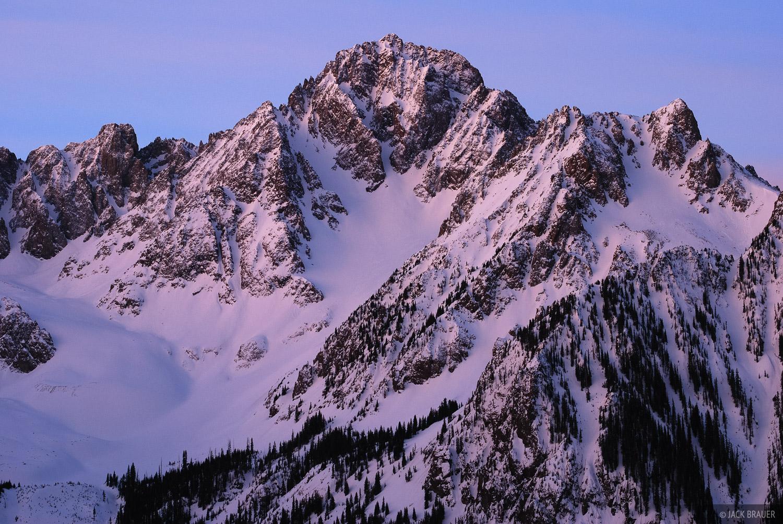Dawn light illuminates Mt. Sneffels - April.