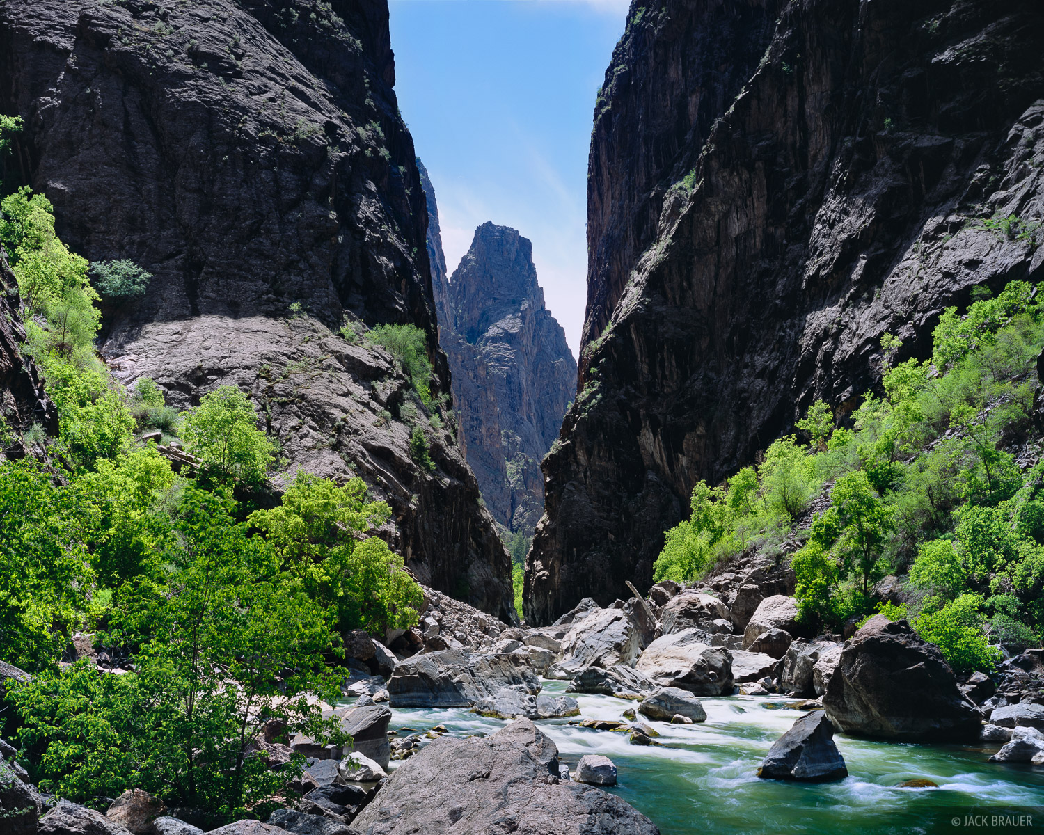 Springtime, Gunnison River, Black Canyon, Colorado, photo