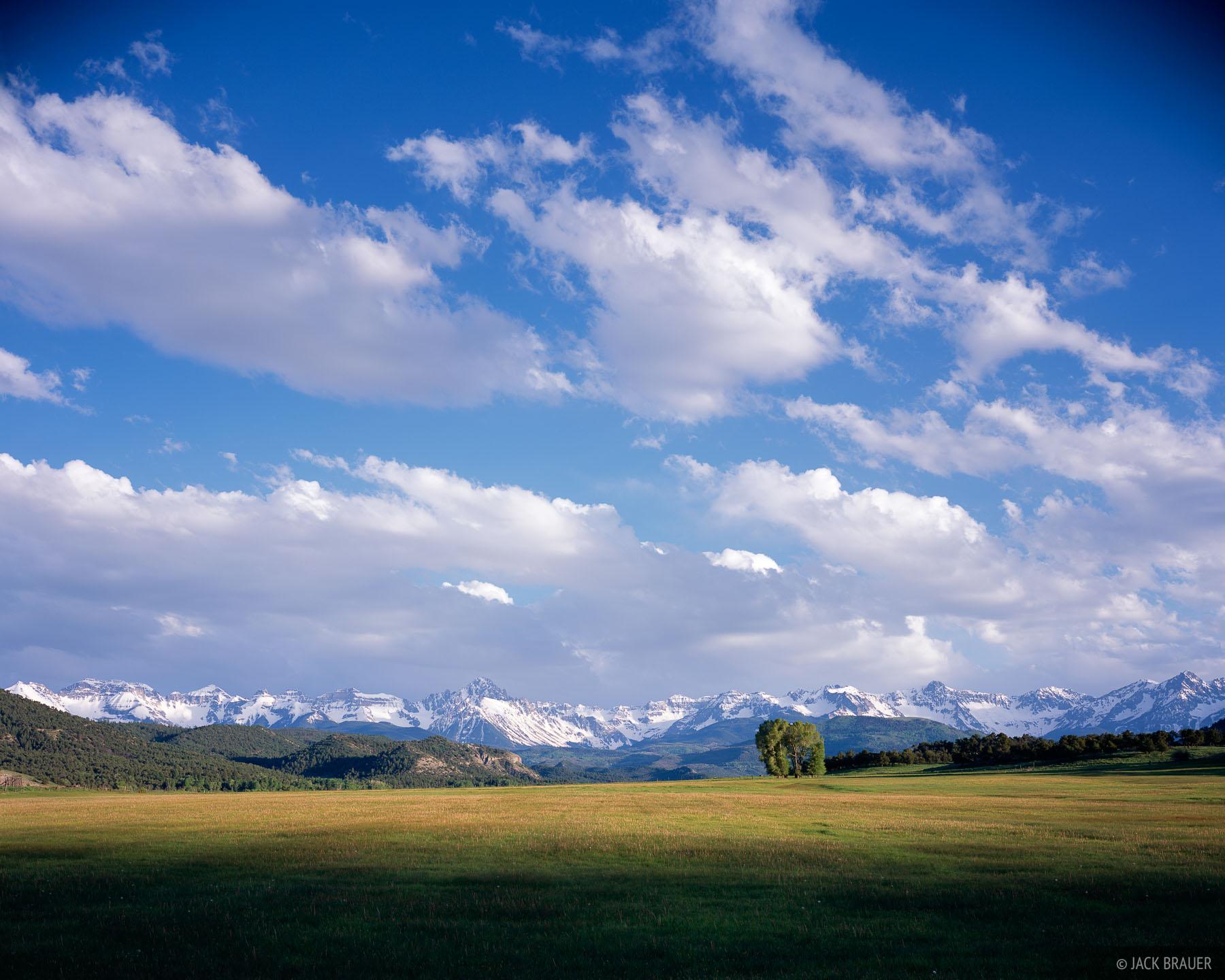 Sneffels Range, clouds, San Juans, Colorado, photo