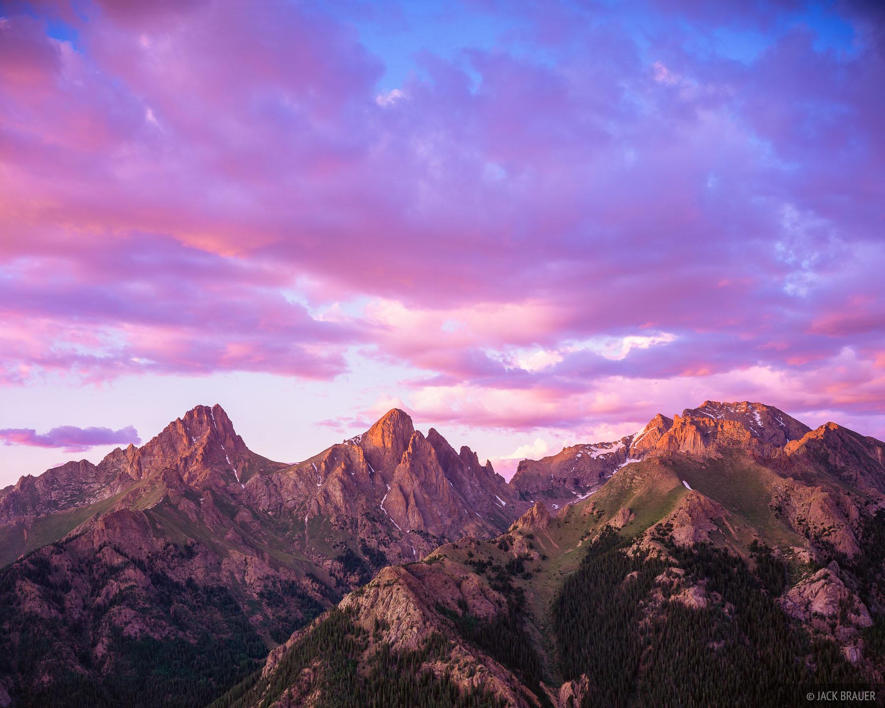 Needles Sunset, San Juan Mountains, Colorado, photo