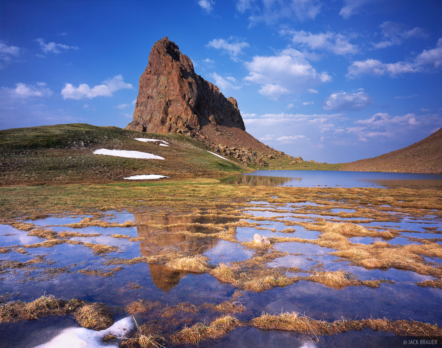Tundra Mirrors, Uncompahgre Wilderness, San Juan Mountains, Colorado, photo