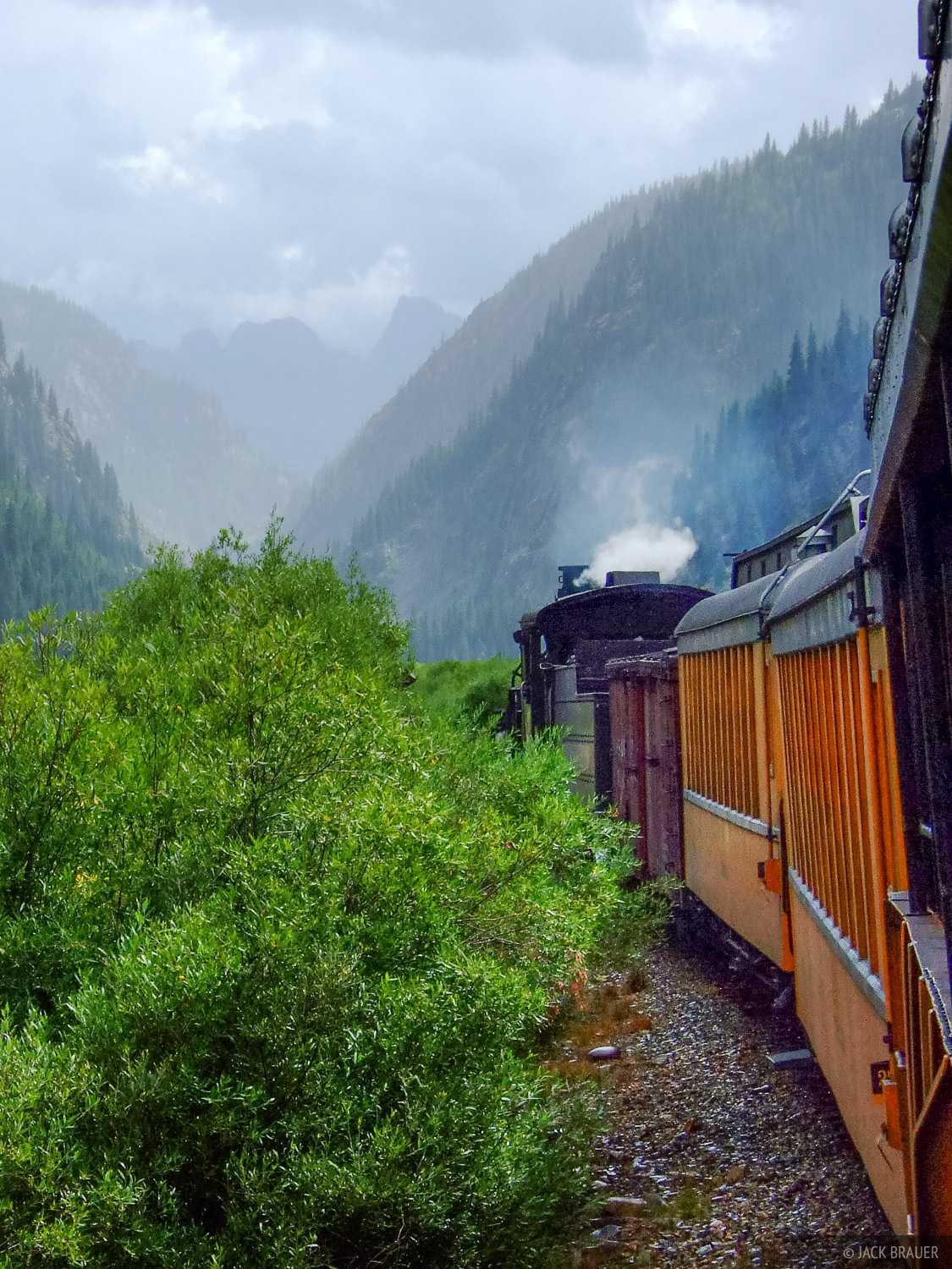 My ride into the mountains: the Durango & Silverton Narrow Gauge Railroad.  Originally built in 1881 to haul silver and gold...