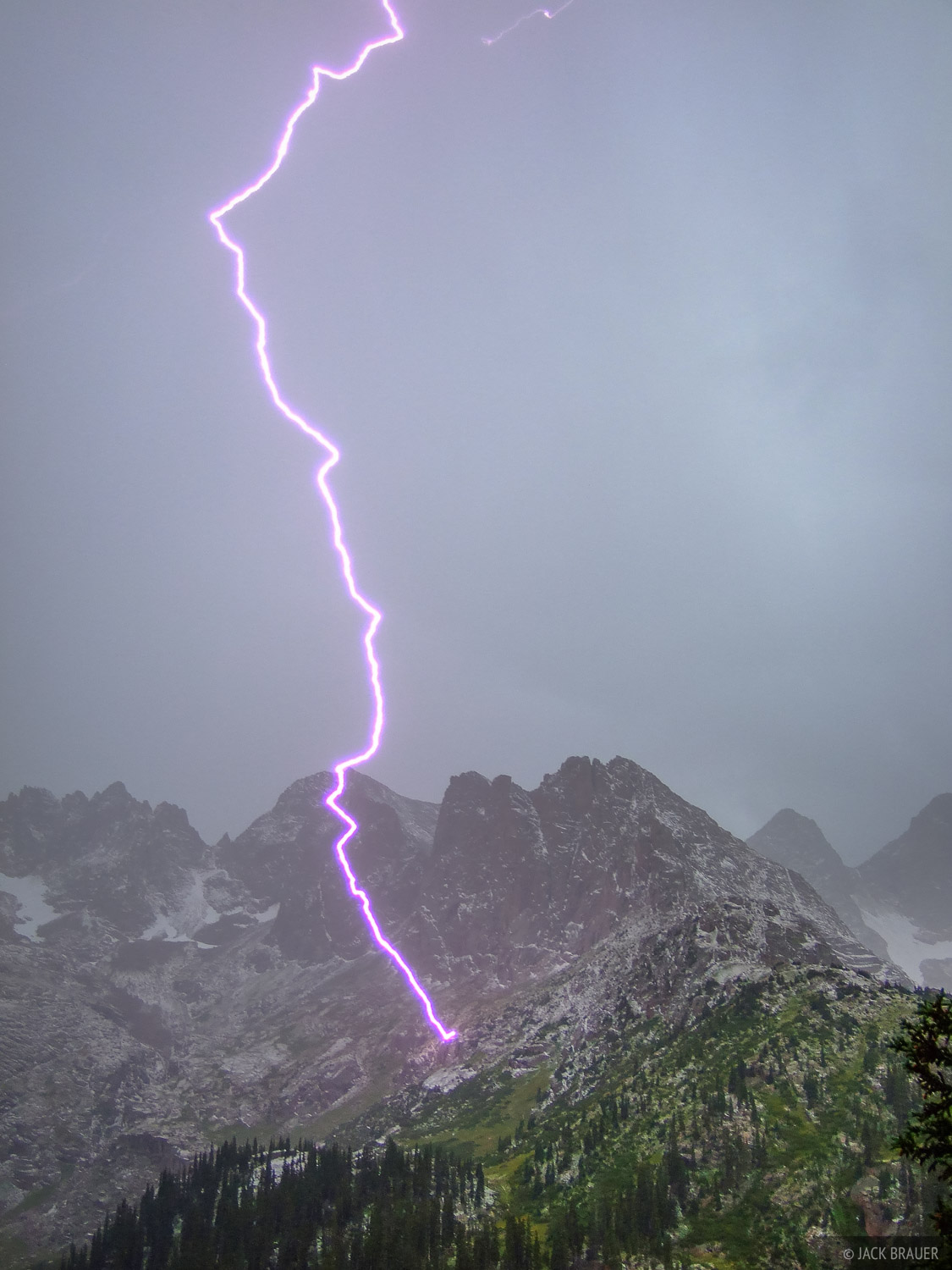 Lightning bolt, Needle Mountains, Colorado, photo