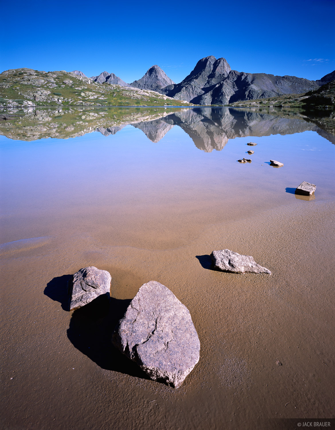 lake, reflection, Grenadier Range, Colorado, photo