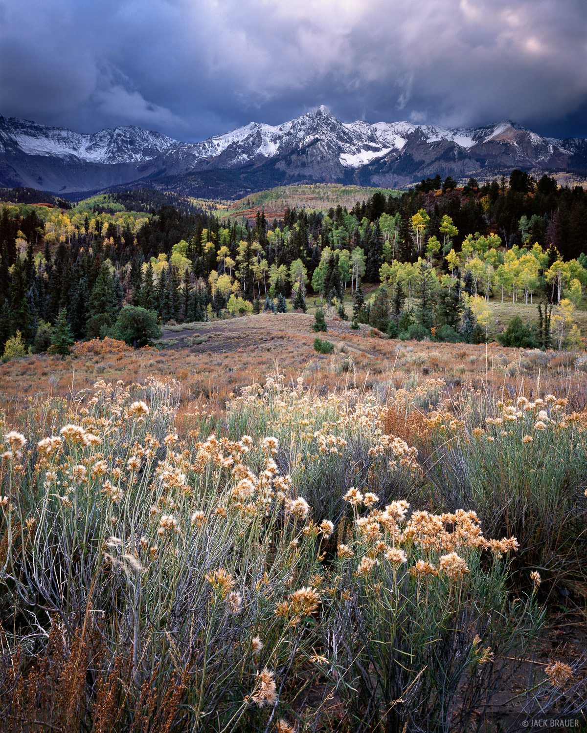 Stormy autumn morning in the Sneffels Range - October.