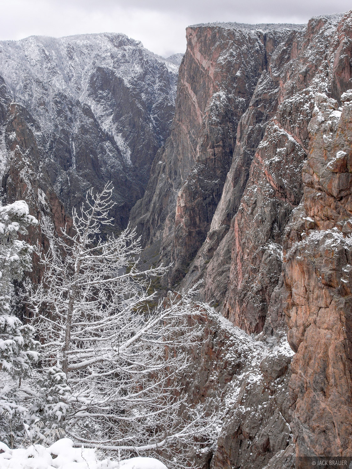 Black Canyon, Snow, Painted Wall, Colorado, photo