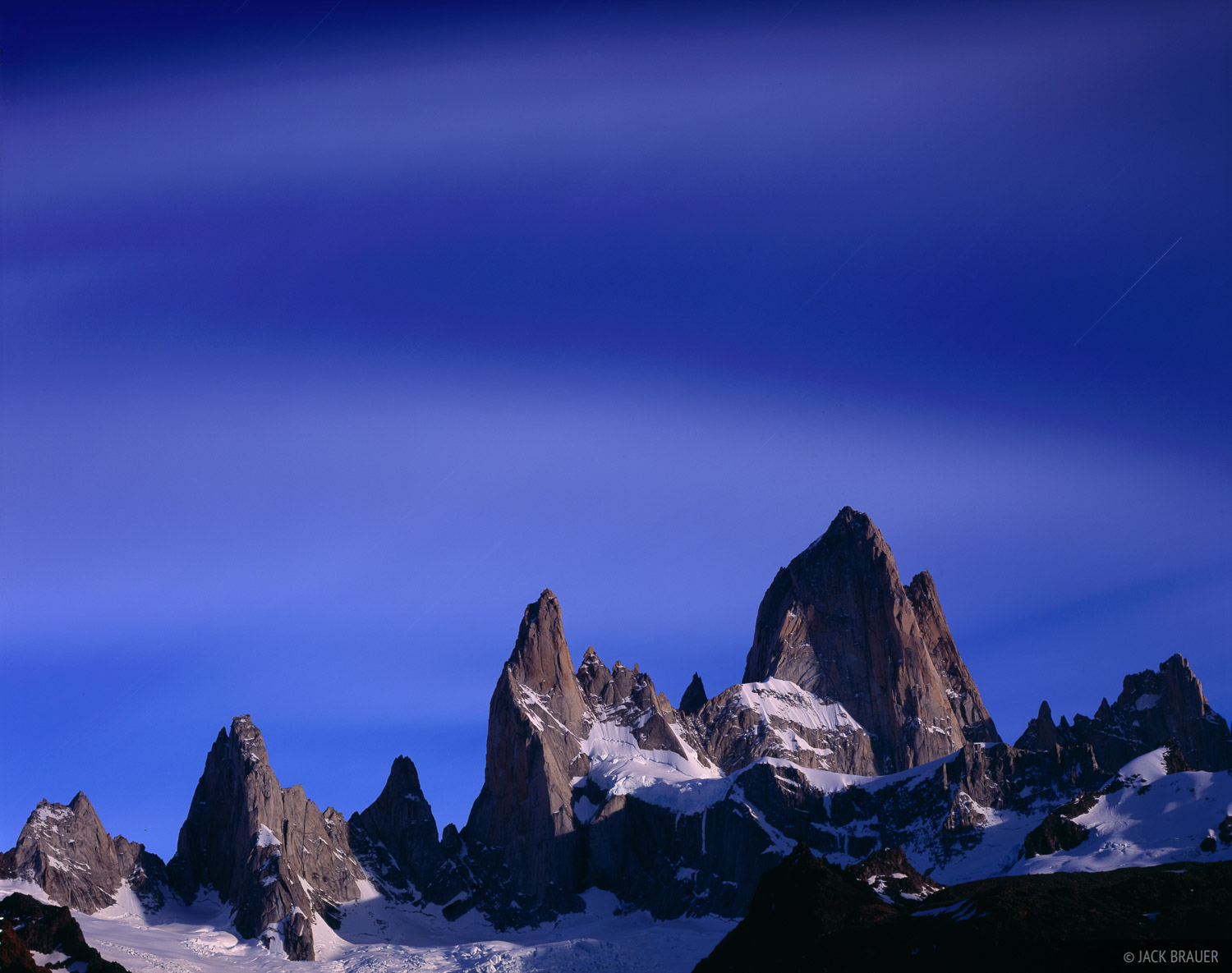 Cerro Poincenot, Monte Fitz Roy, Moonlight, Chaltén, photo