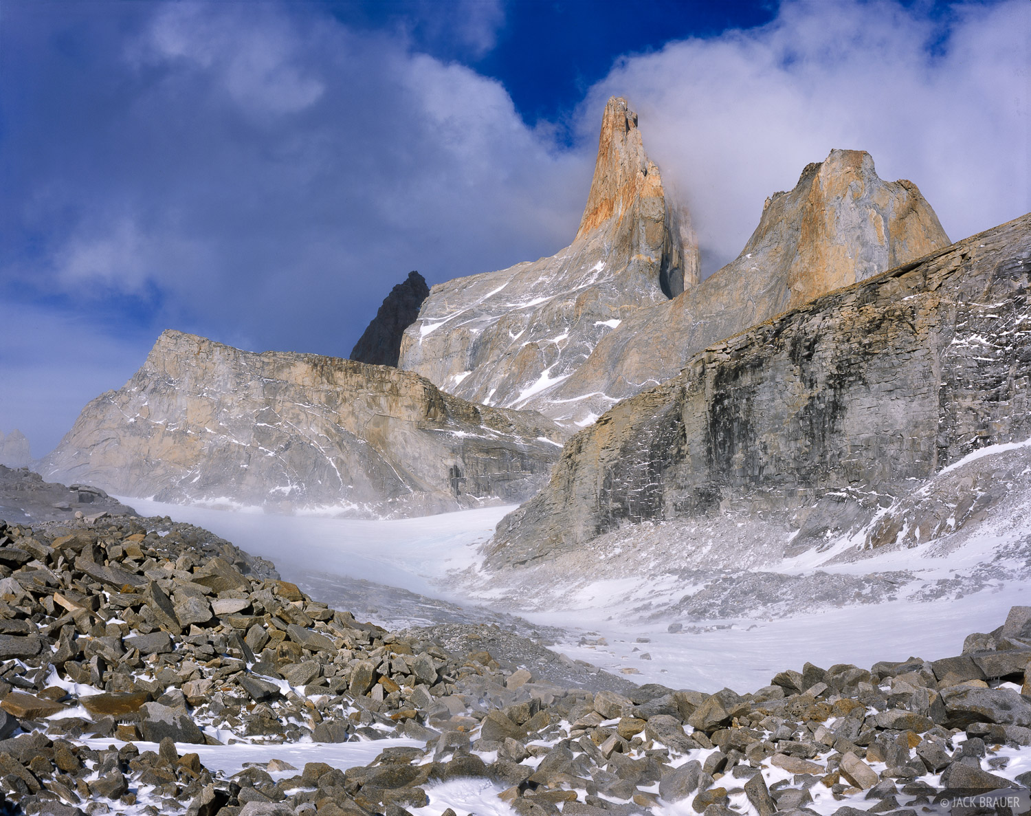 Torres South Face, Valle Frances, Torres del Paine, Chile, Patagonia, photo