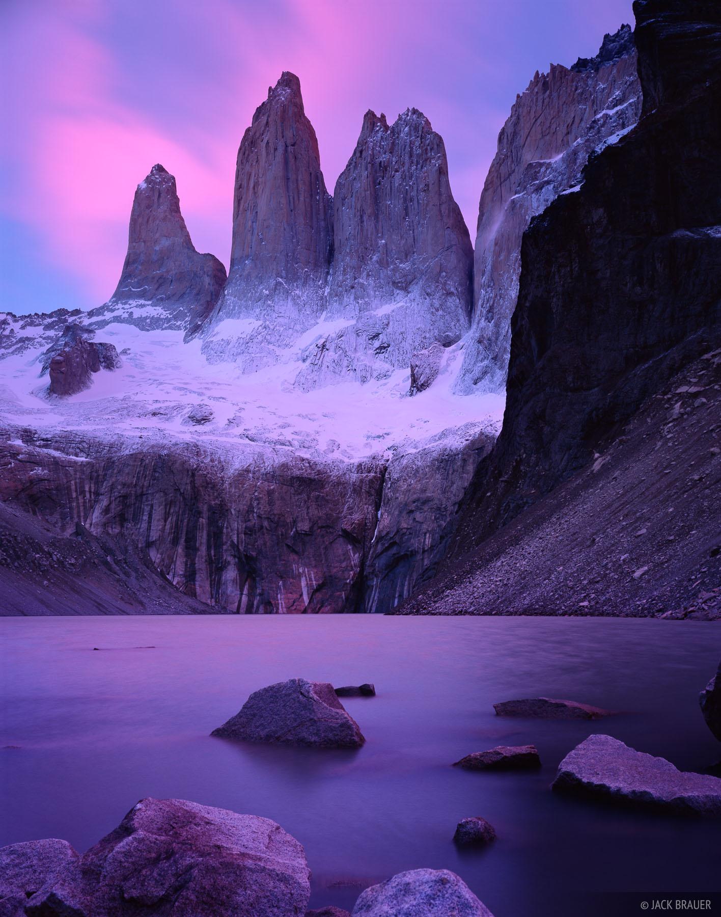 Lago Torre, sunrise, Torres del Paine, Chile, photo
