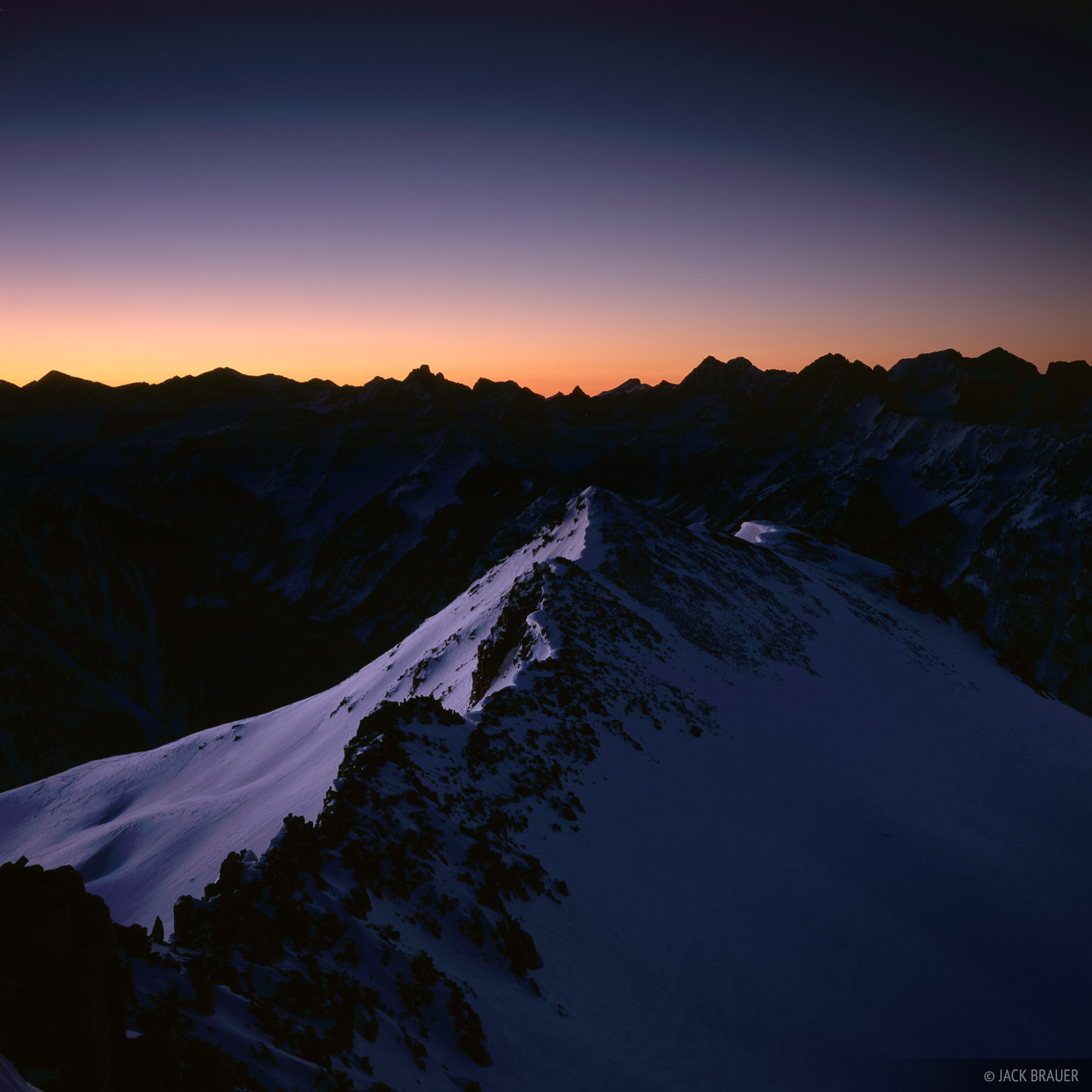 Needles Dawn Silhouette, San Juan Mountains, Colorado, photo