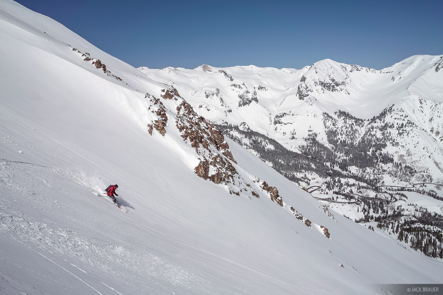 Backcountry skiing, San Juan Mountains, Colorado, photo