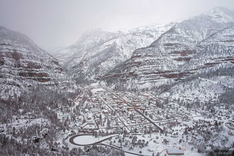 Ouray, snowstorm, winter, snow, Colorado, photo