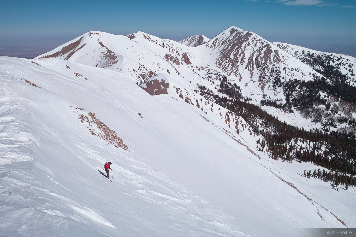 Manns Peak, La Sals, ski traverse, Utah, photo