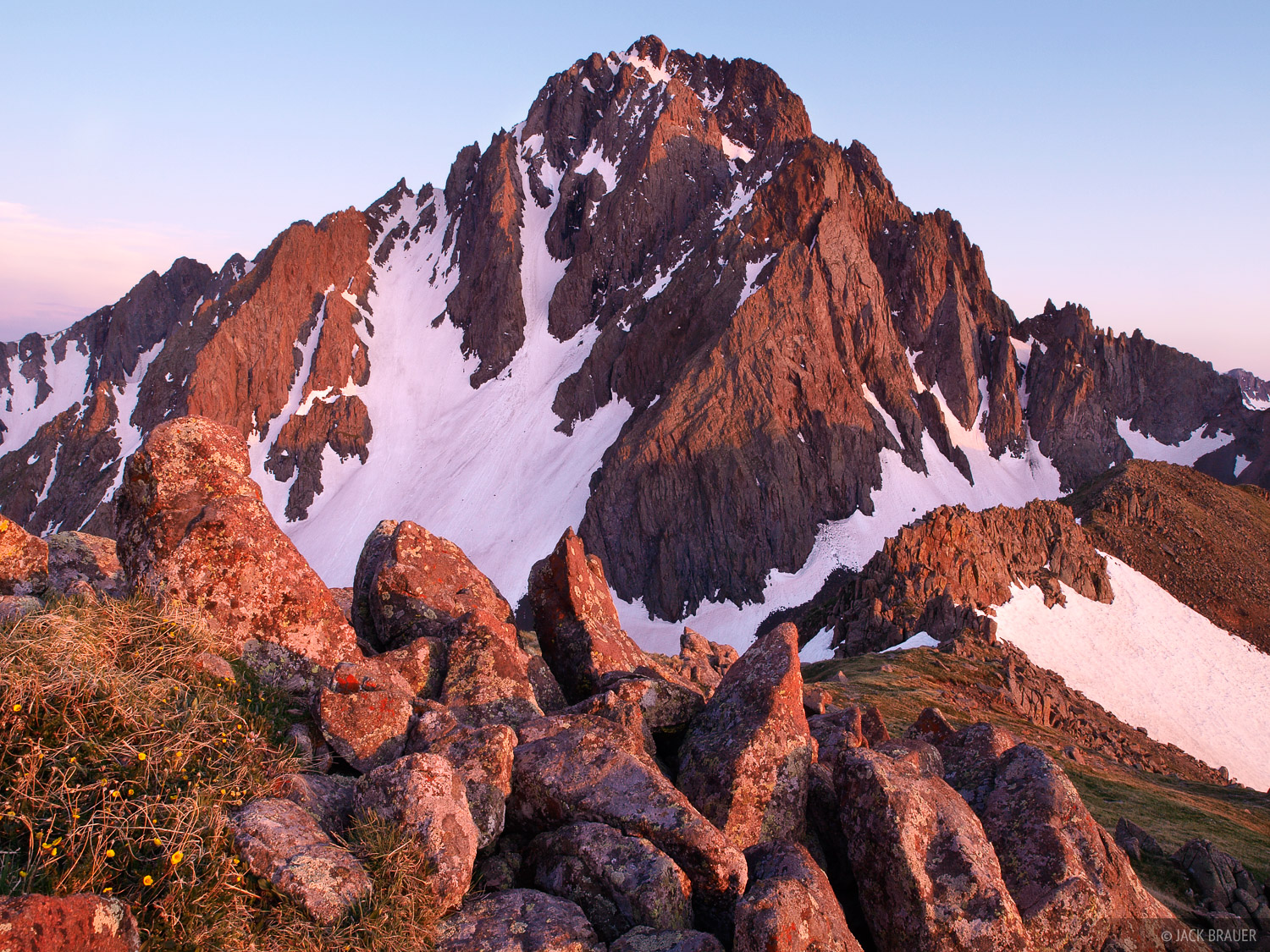 Mt. Sneffels, sunset, San Juan Mountains, Colorado, photo