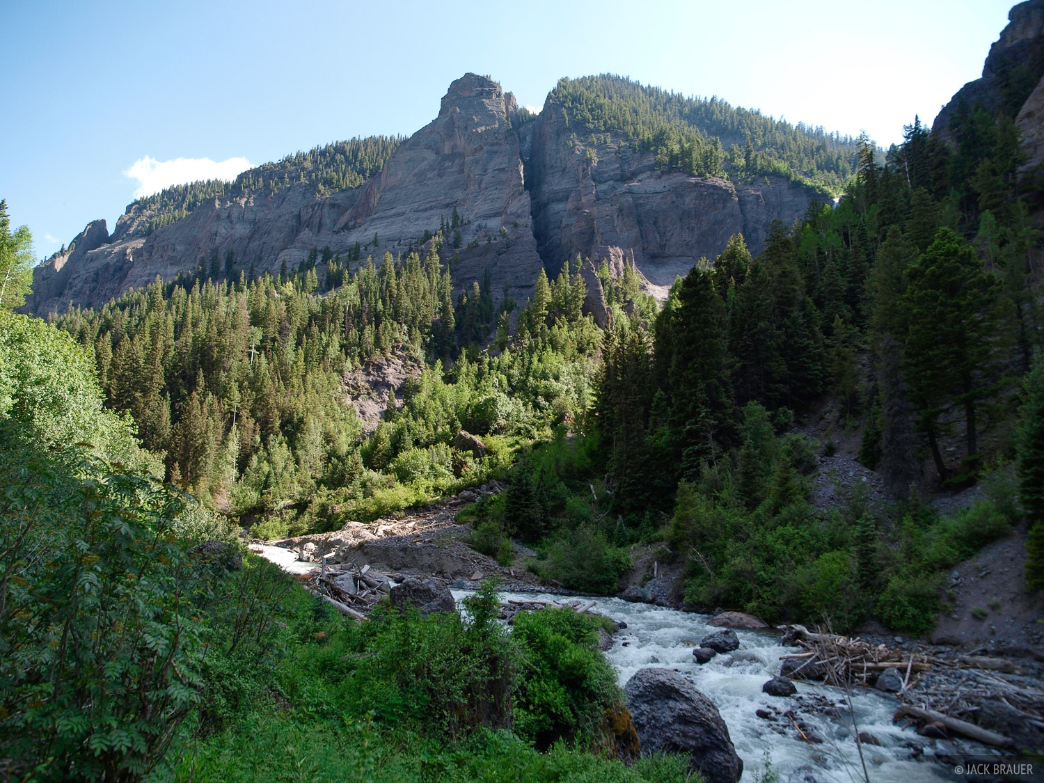 Colorado, Cow Creek, San Juan Mountains, July, photo