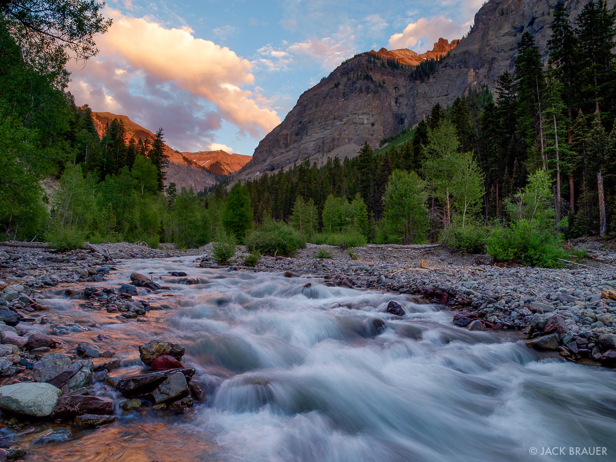 Colorado,Cow Creek,San Juan Mountains, sunset, July, Uncompahgre Wilderness, photo