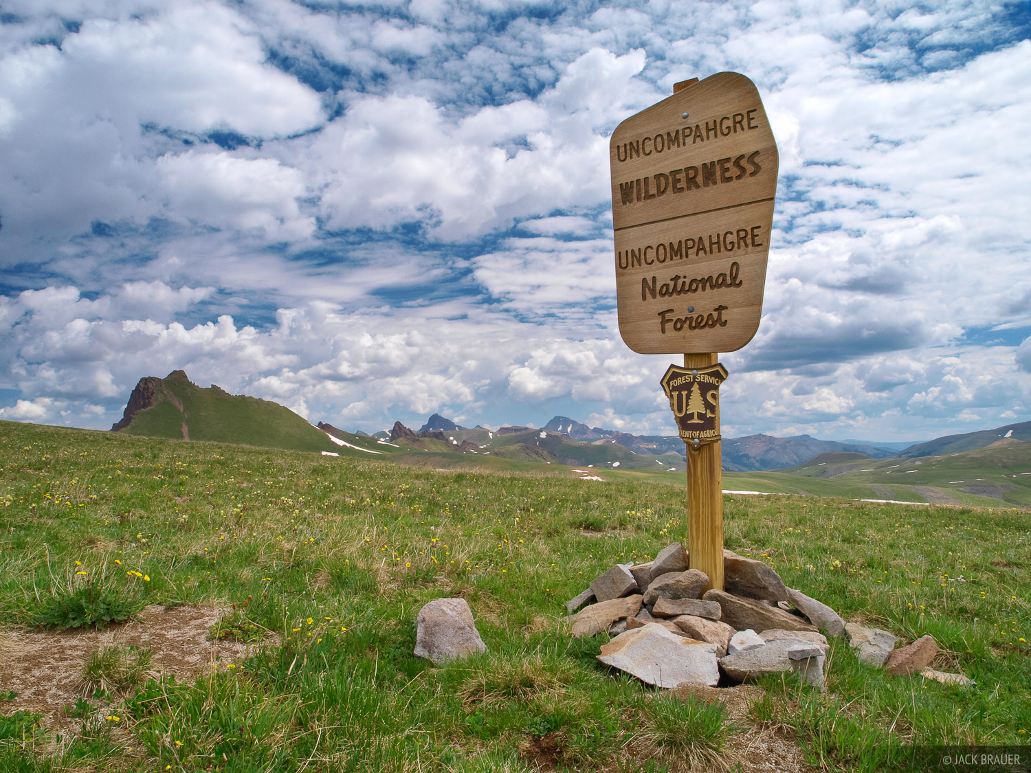 Colorado, San Juan Mountains, Uncompahgre Wilderness, sign, photo