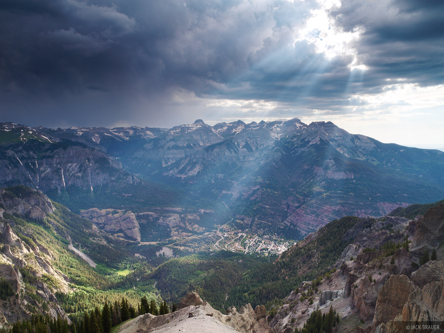Sunbeams, Ouray, Colorado, photo