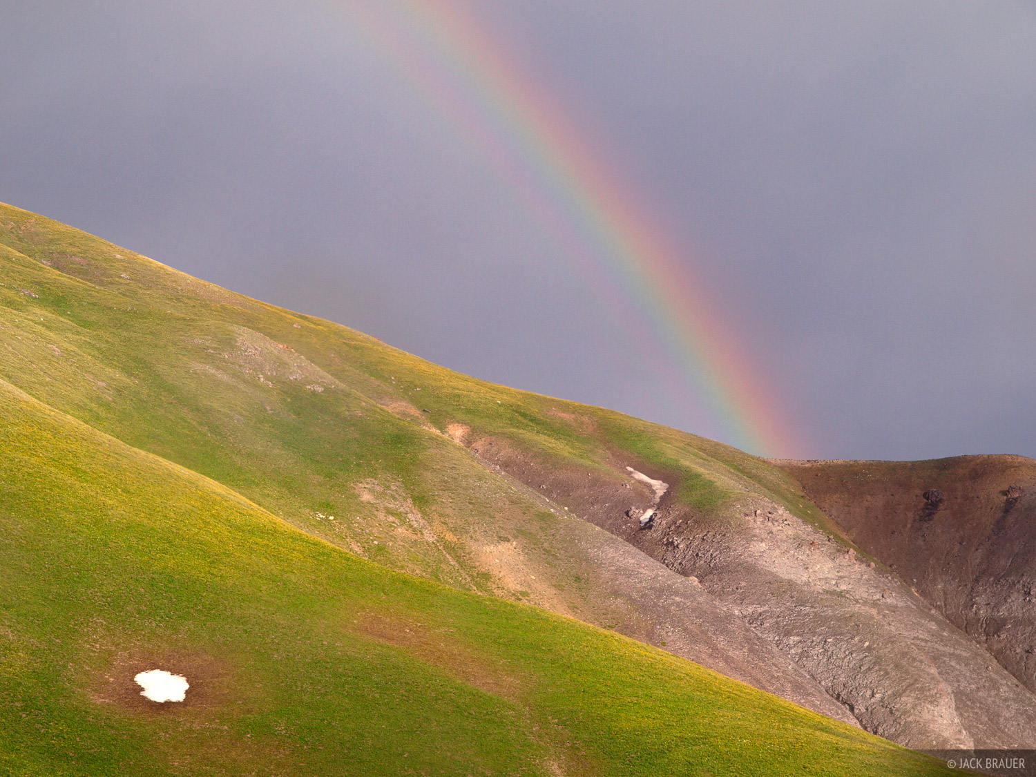 tundra, rainbow, Colorado, photo