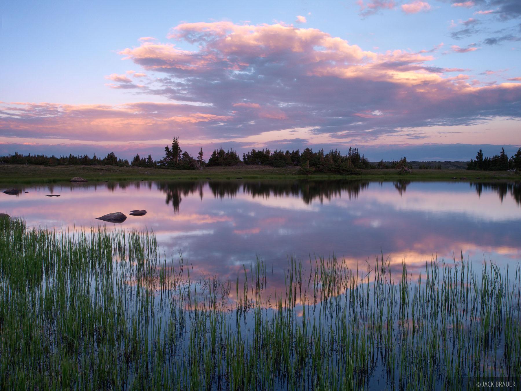 sunset, reflection, tundra, Flat Mountain, photo
