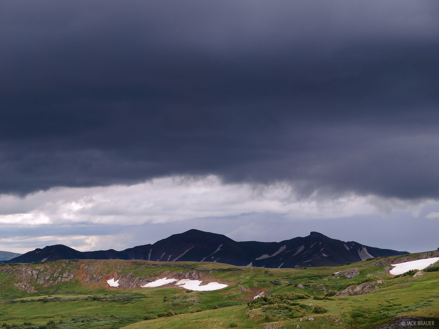 tundra, clouds, Summit Peak, Elwood Pass, South San Juans, Colorado, photo