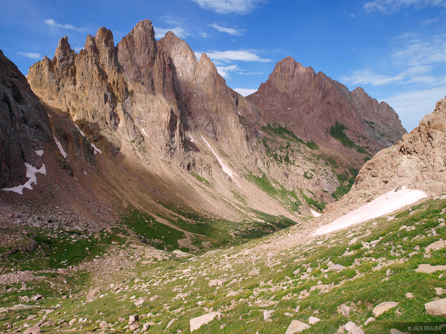 Turret Needles, Pigeon Peak, Weminuche Wilderness, Colorado, photo