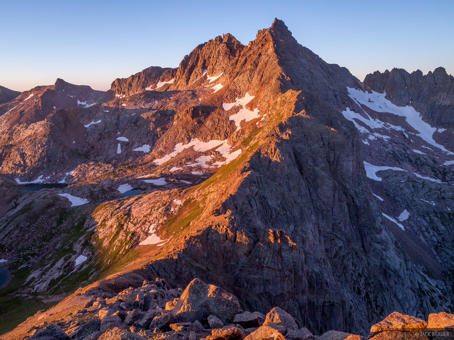Colorado, Needle Mountains, San Juan Mountains, Weminuche Wilderness, Knife Point, sunrise, 14er, photo