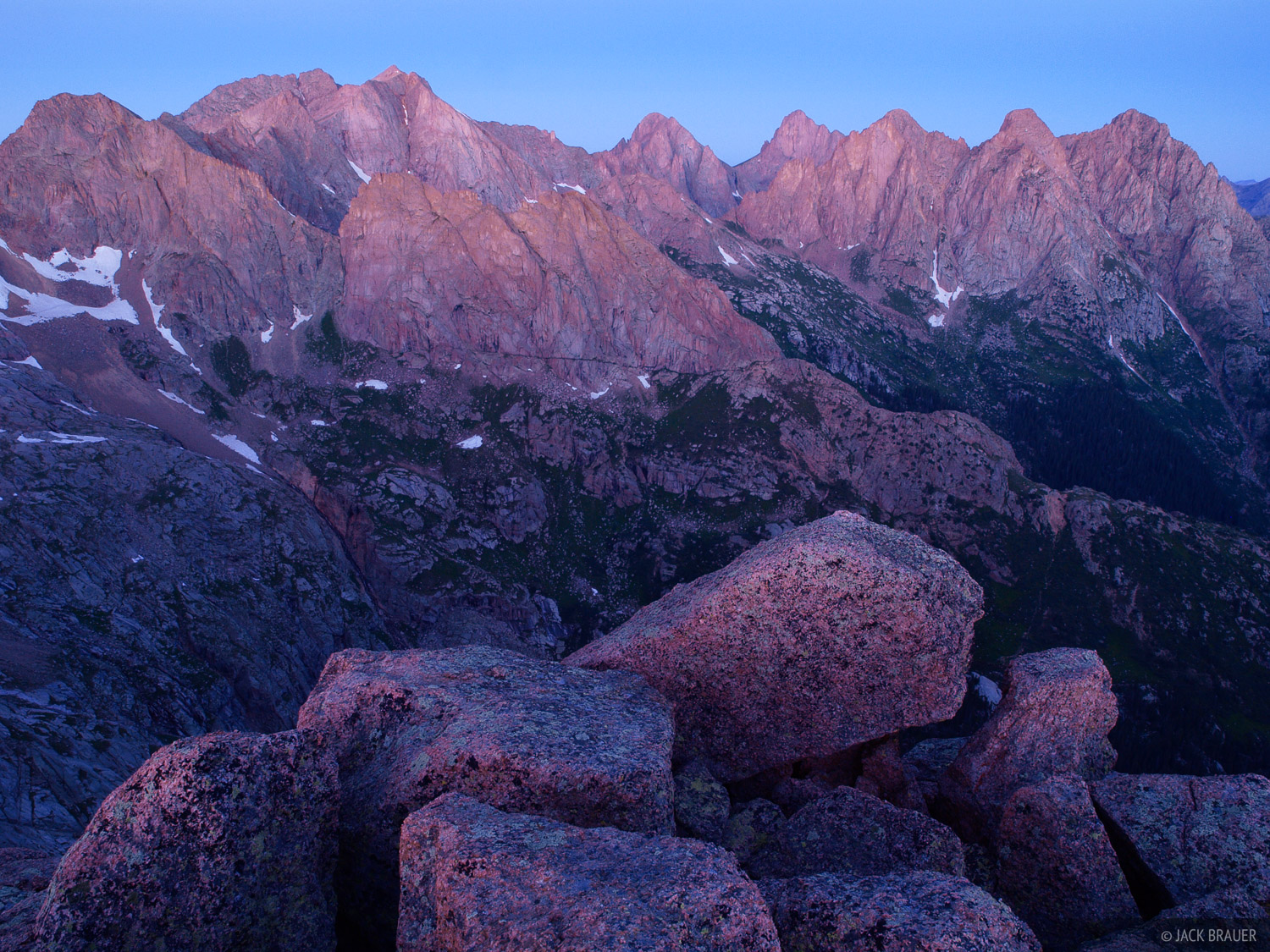 Knife Point, Needle Mountains, dawn, Colorado, photo