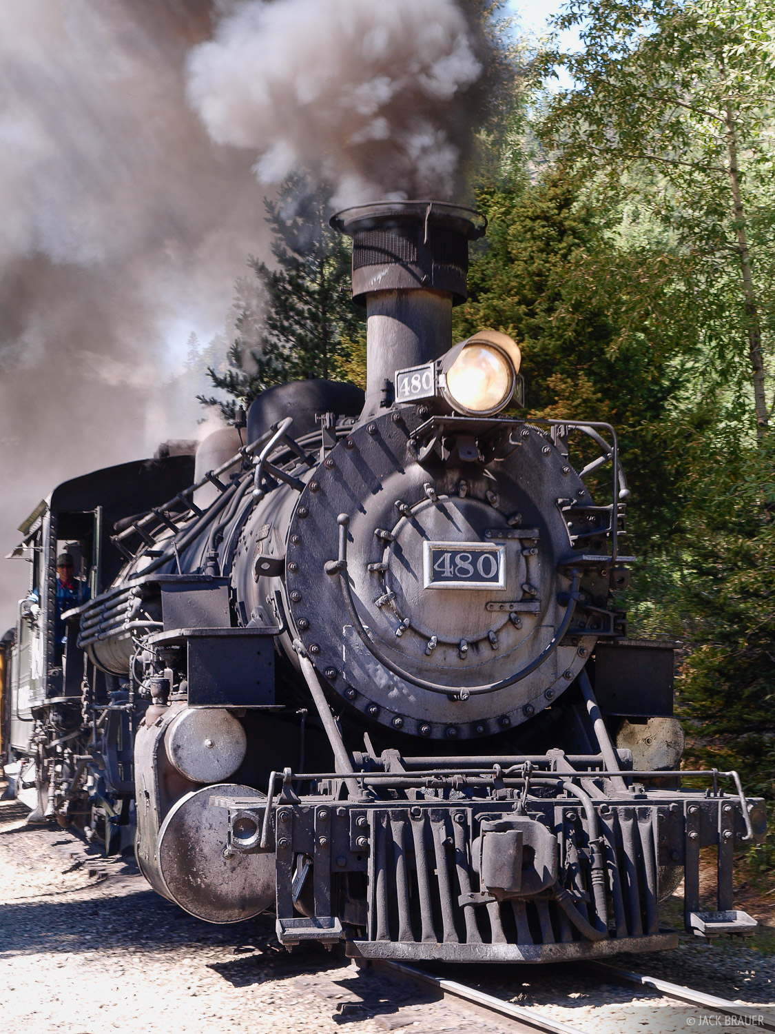 The Durango & Silverton Narrow Gauge Railroad is my ride back to civilization.