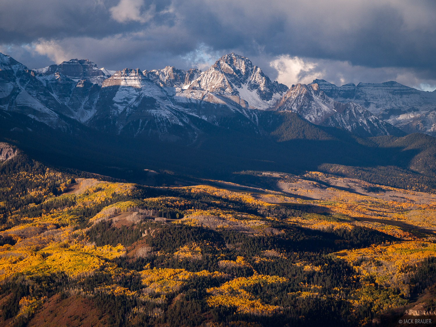 Mt. Sneffels on a cloudy autumn morning in September.