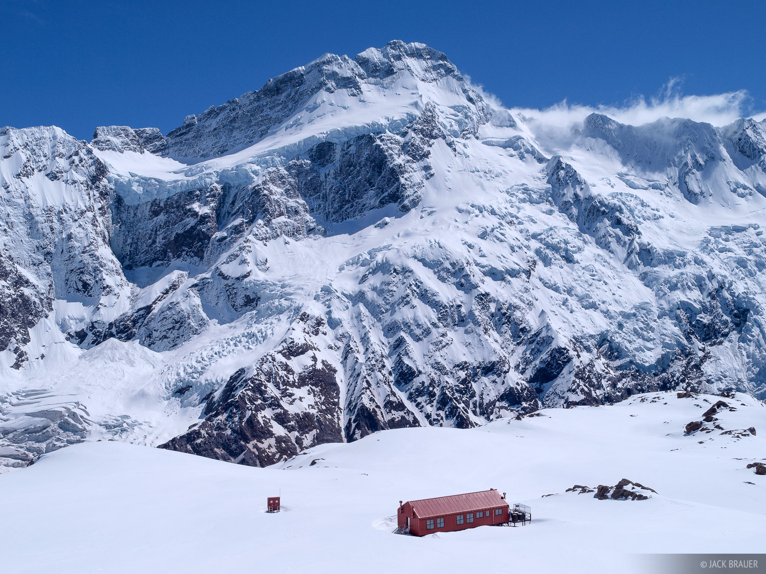 Mueller Hut, Mount Sefton, New Zealand, Southern Alps, photo