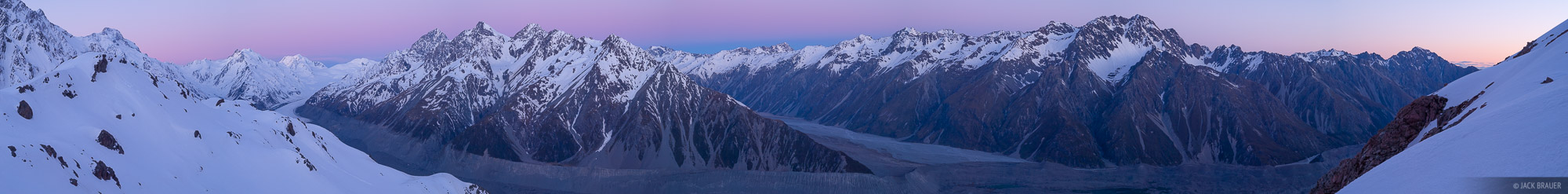 New Zealand, Southern Alps, Tasman Glacier, panorama, photo
