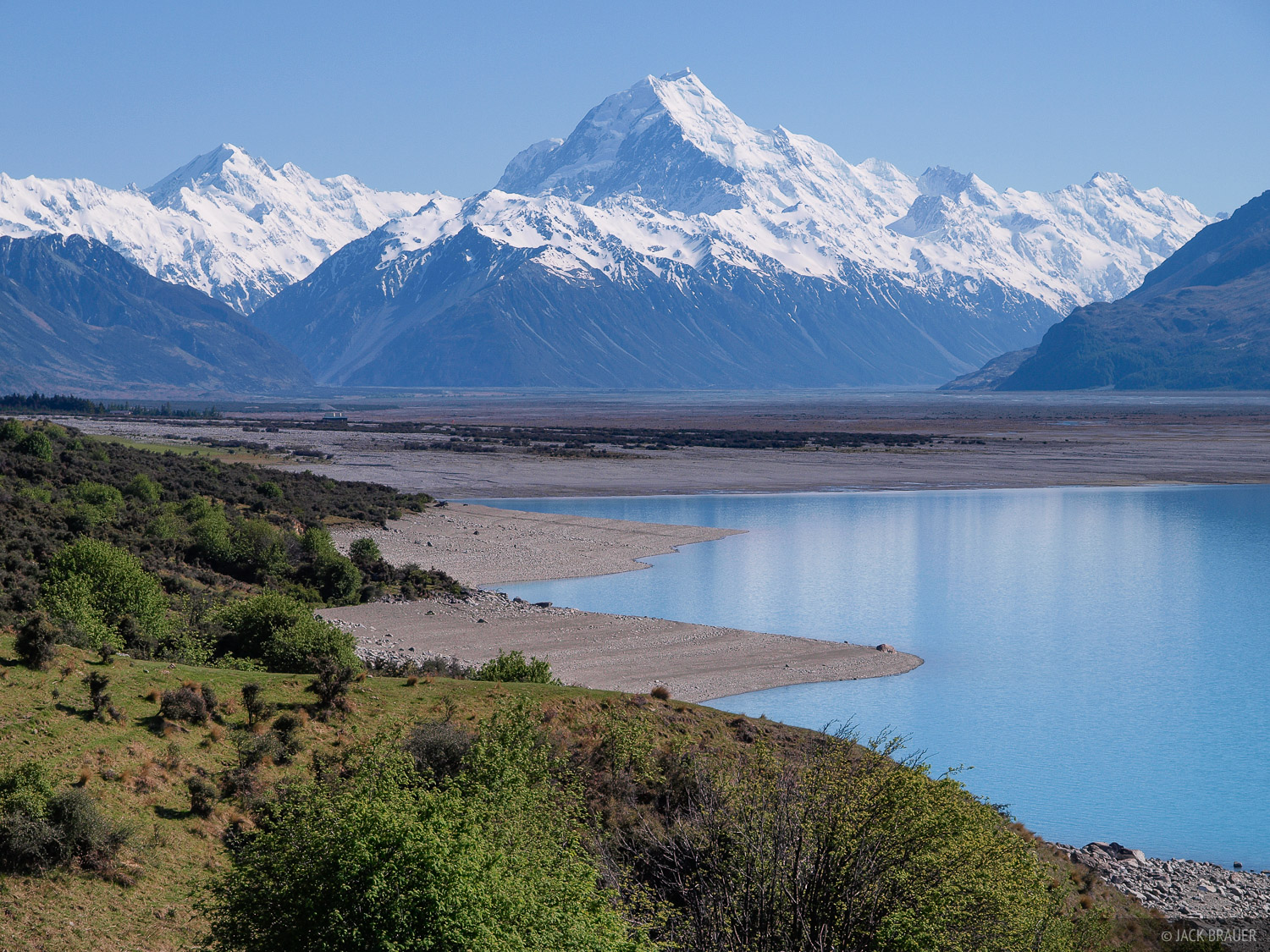 New Zealand, Southern Alps, Aoraki, Mount Cook, Lake Pukaki, photo