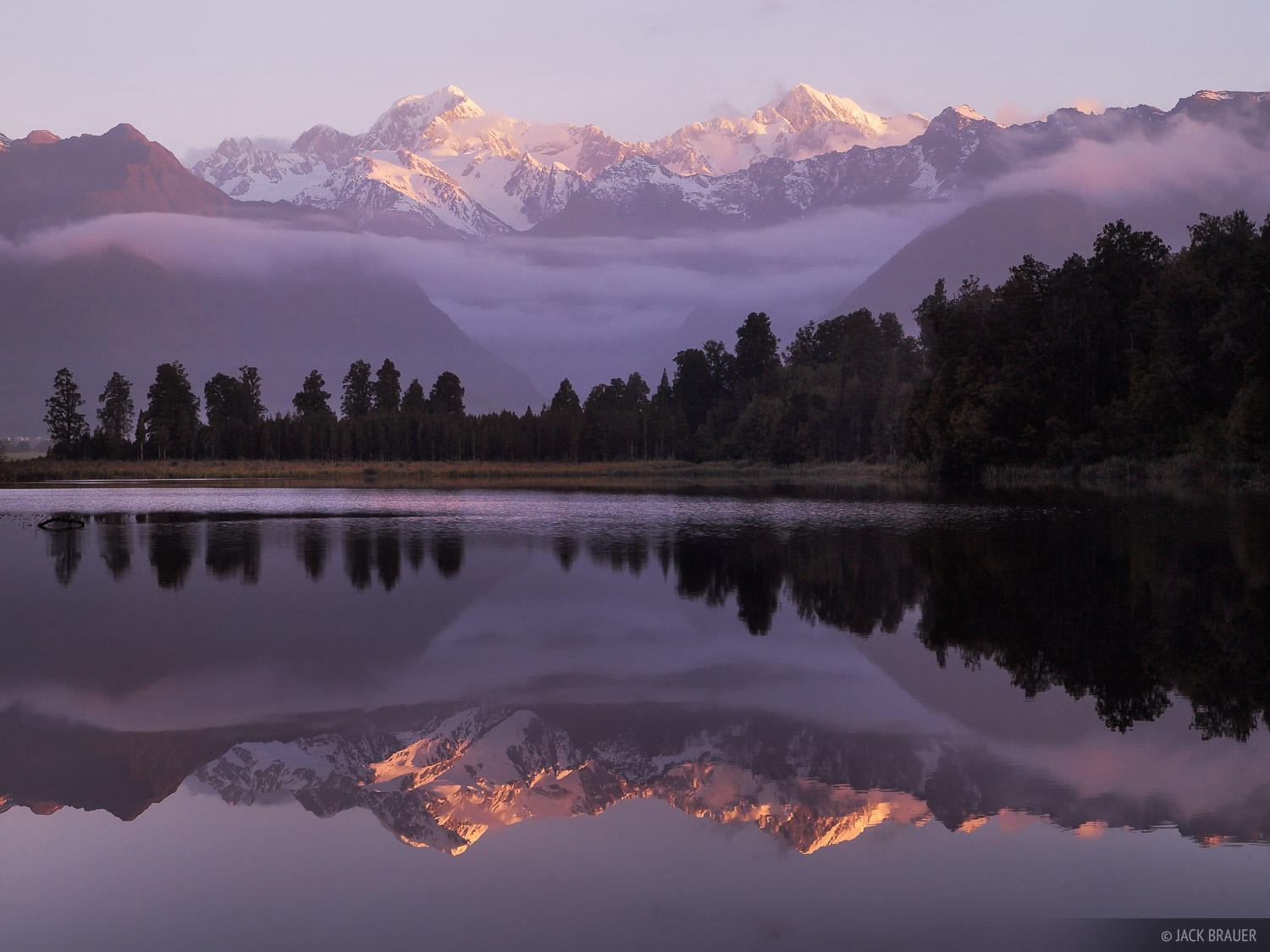 Lake Matheson, Tasman, Mount Cook, West Coast, Fox Glacier, New Zealand, photo