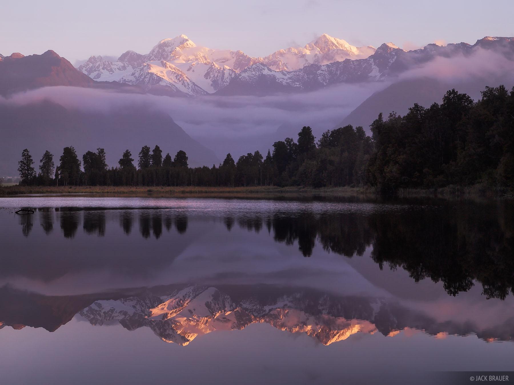 Lake Matheson, Tasman, Cook, West Coast, Fox Glacier, New Zealand, photo