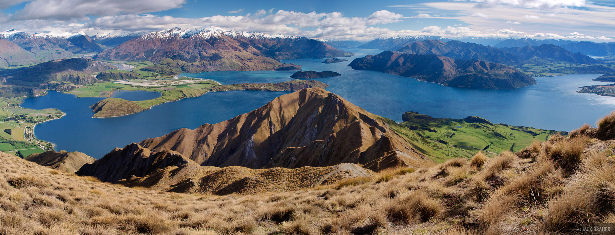 Lake Wanaka, Roys Peak, Southern Alps, panorama, New Zealand, photo