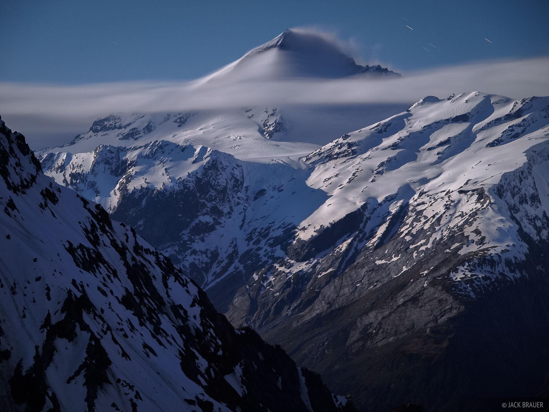 Mt. Aspiring, moonlight, New Zealand, photo