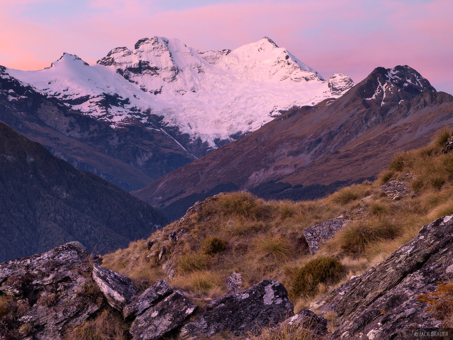Mount Earnslaw, Mt. Aspiring, National Park, New Zealand, photo