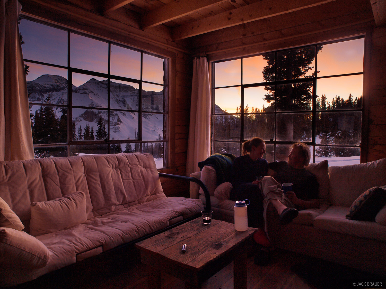 cabin, San Juan Mountains, Colorado, sunset, photo