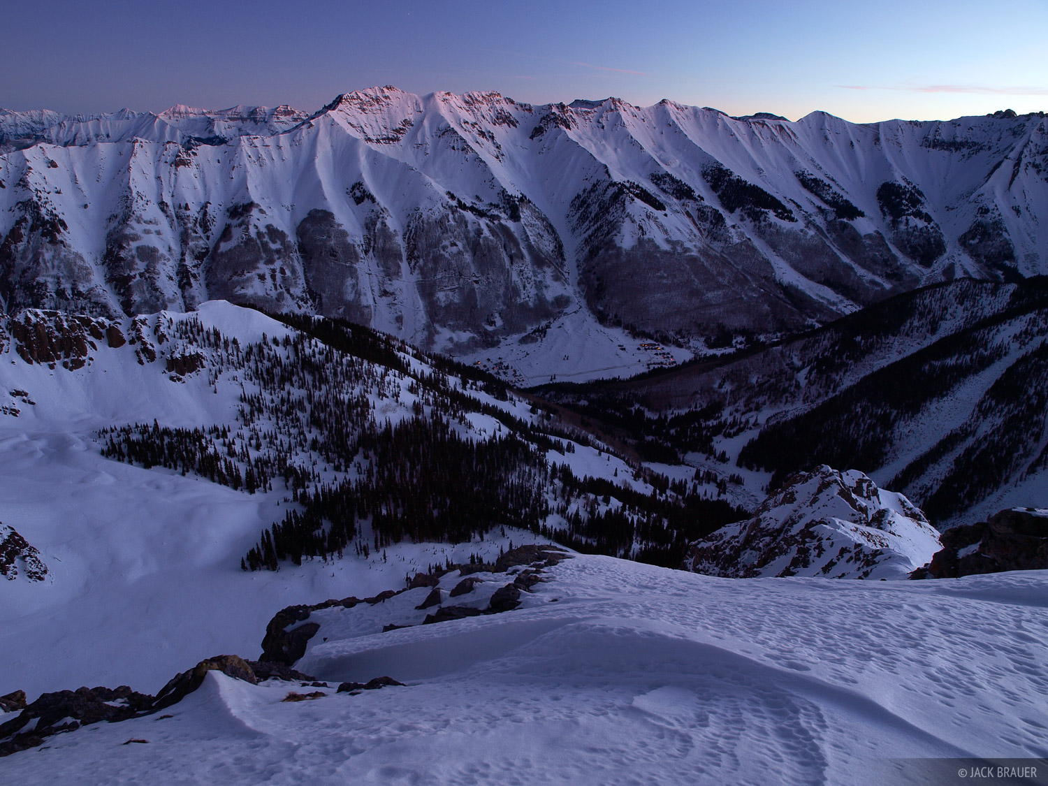 Ophir, Colorado, dawn               	, photo