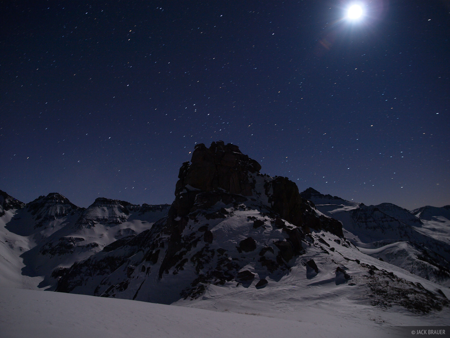 Moonlight, San Juan Mountains, Colorado, photo
