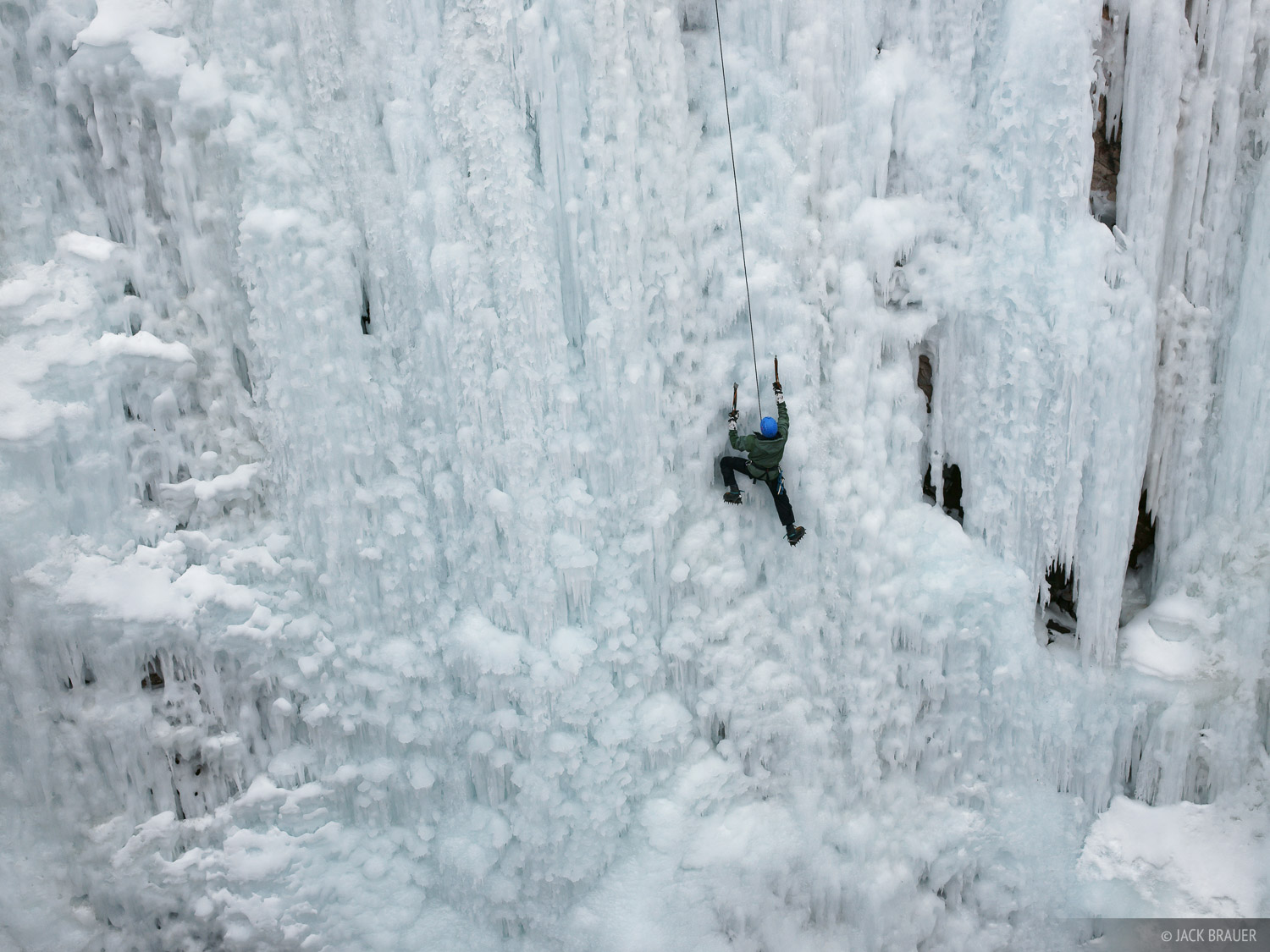 Ice climbing at the Ouray Ice Park - March.