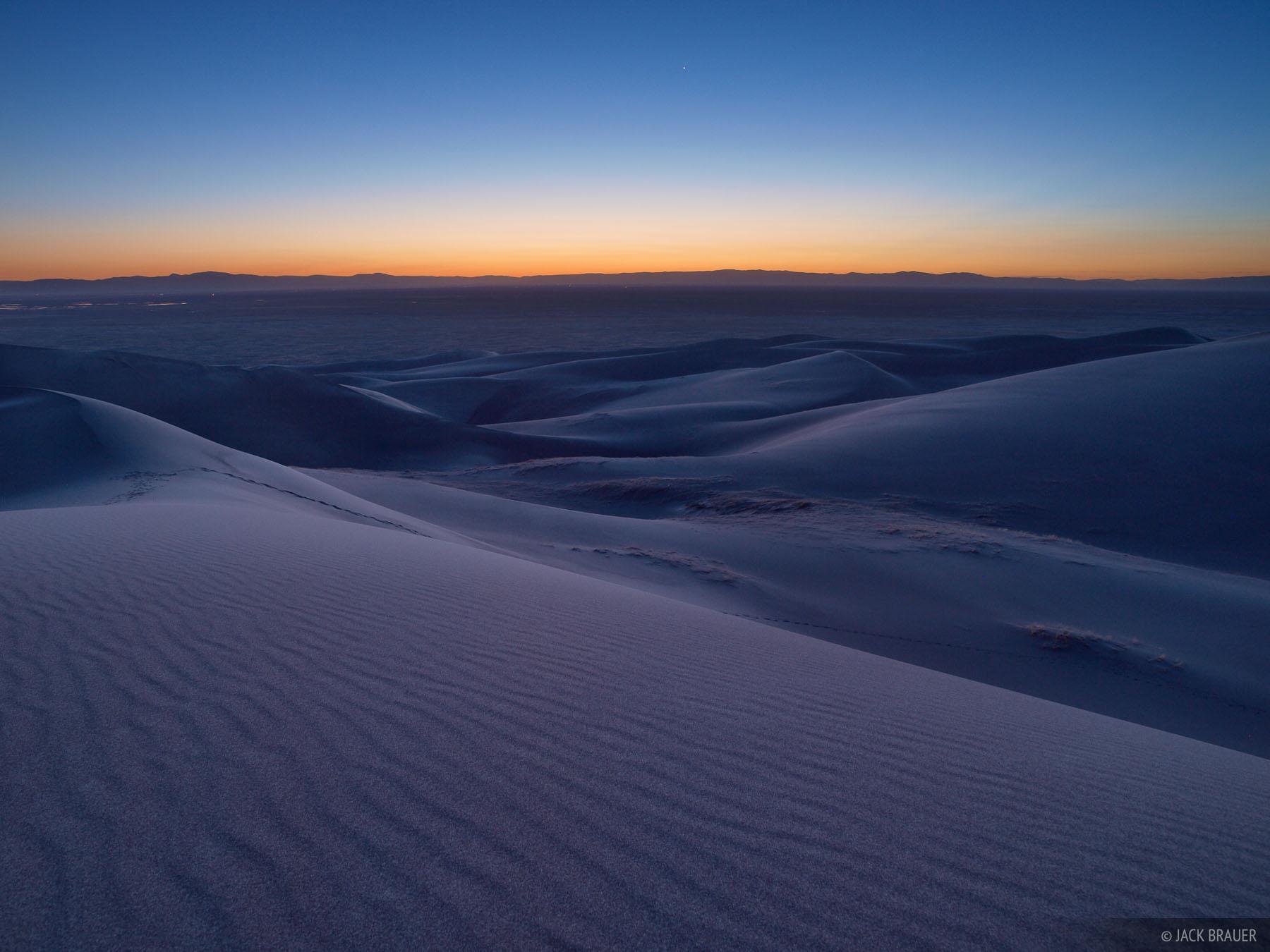 Great Sand Dunes, Colorado, twilight, photo