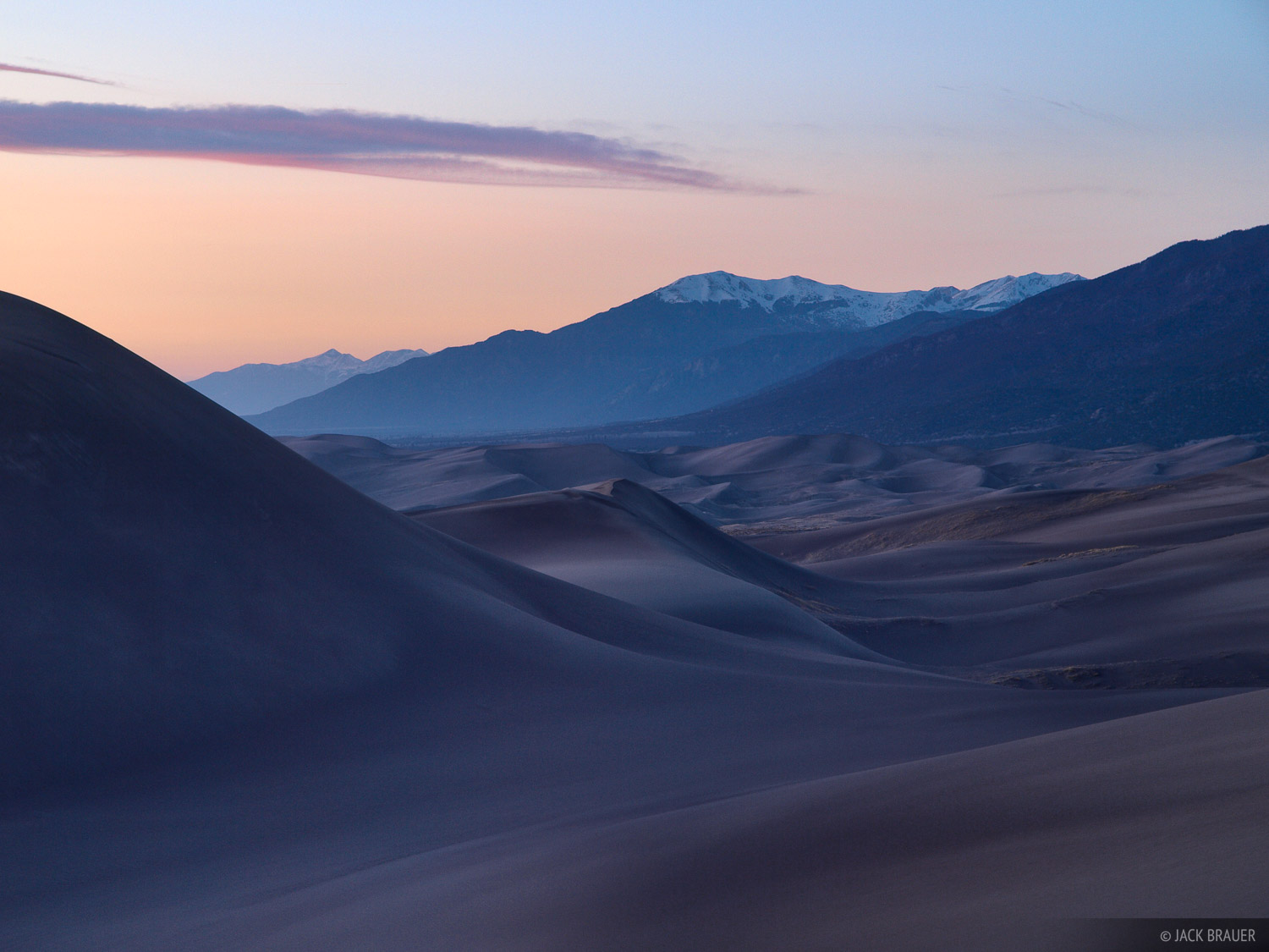 dusk, Great Sand Dunes, Colorado, photo