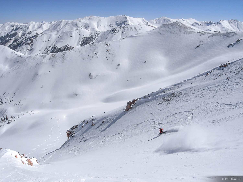 snowboarding, backcountry, San Juans, Colorado, photo