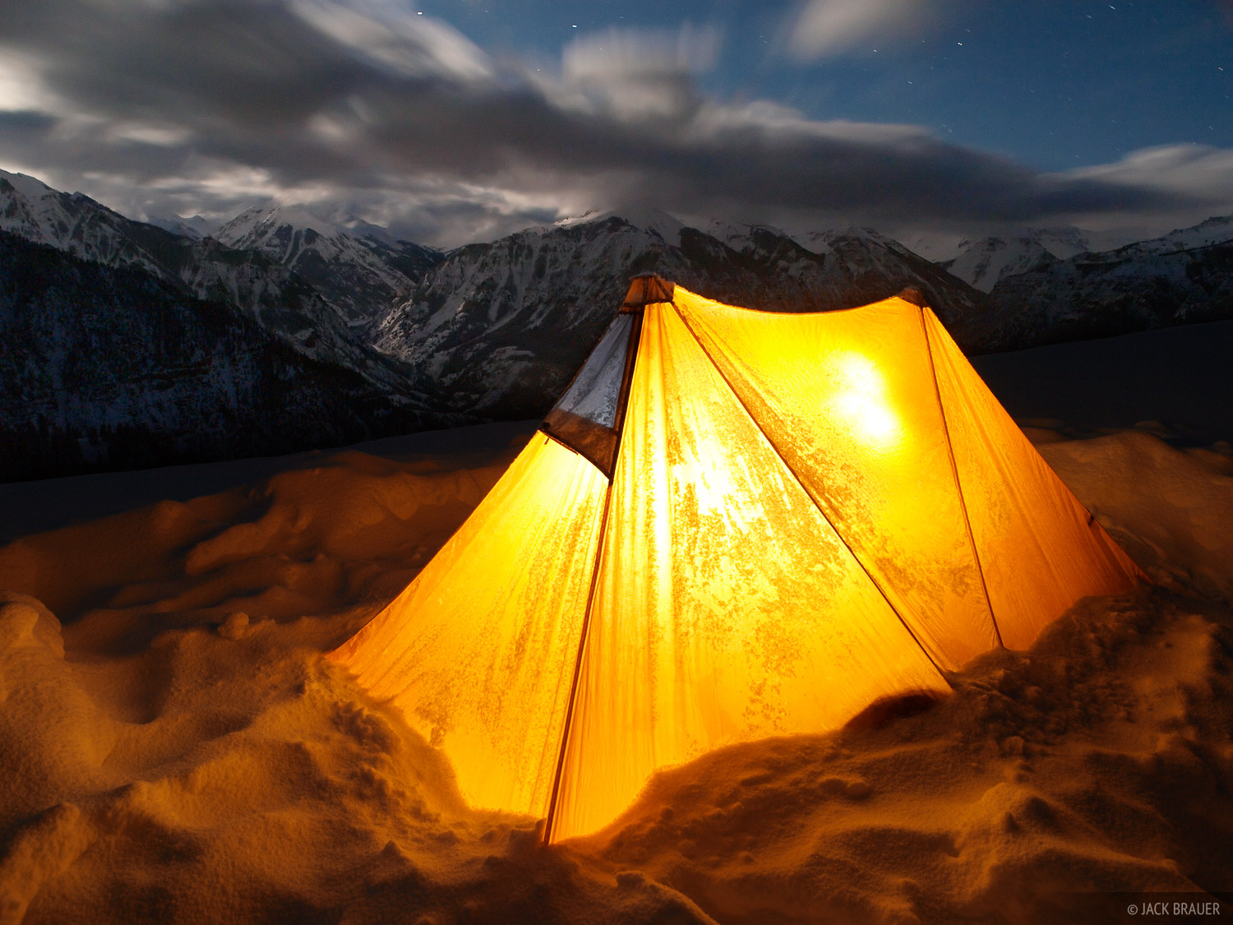 MSR Twin Sisters, tent, night, San Juans, Colorado, photo