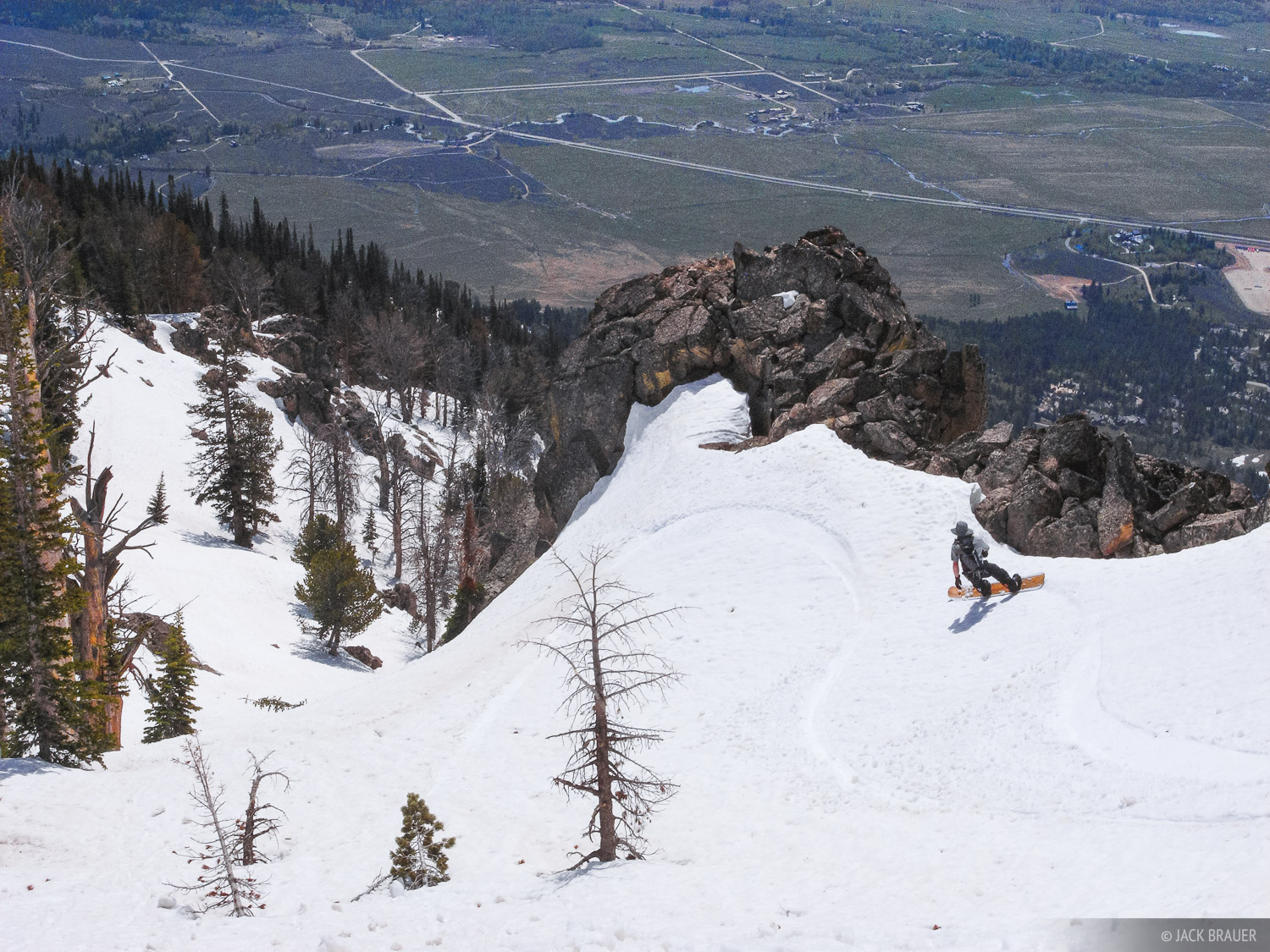 Tetons, Wyoming, snowboarding, Granite Canyon, spring, may, photo