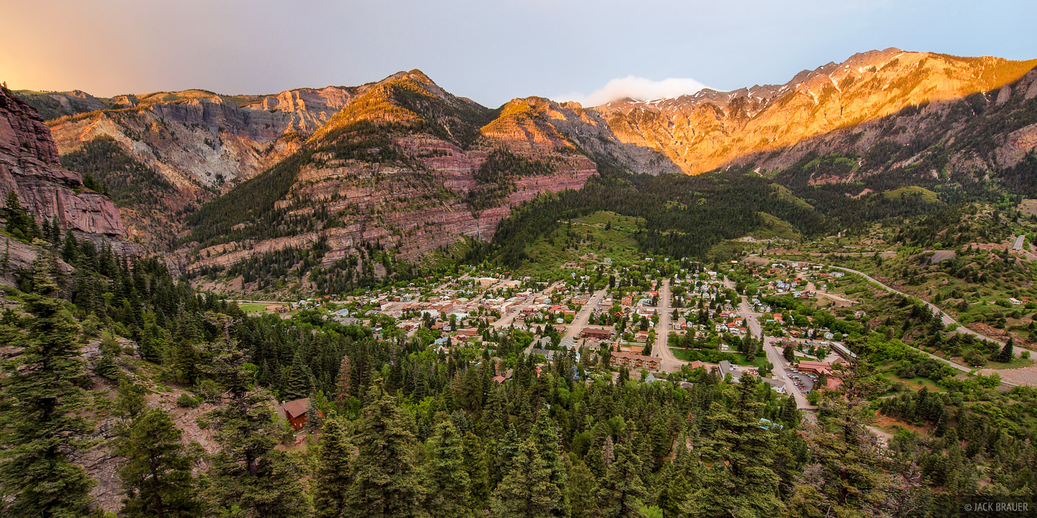 Ouray, Colorado, sunset, alpenglow, photo